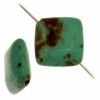 Turquoise Stablized Magnesite 12x12mm 8In Strand